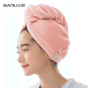 三利【双层加厚】干发帽超强吸水干发巾加大长发毛巾