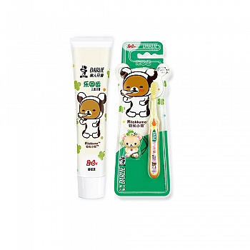 中国•黑人牙膏乐固齿60g(2-6)*1+牙刷乐固齿(2-6)*1