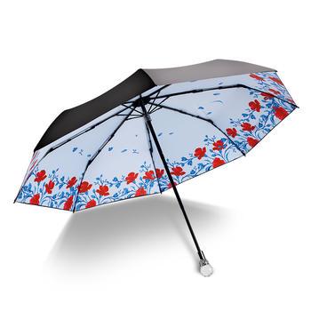 德国iRain花语黑胶防晒晴雨伞