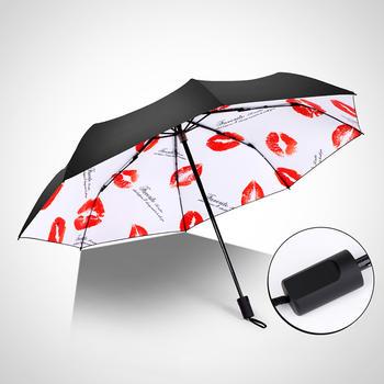 德国iRain可爱童真小清新黑胶防晒晴雨伞