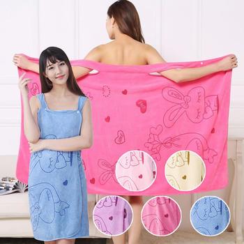 柔软吸水女士性感可穿浴巾