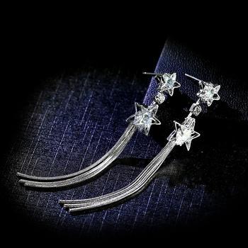 戴拉 925银针流苏夸张耳环