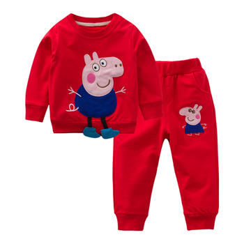 Cipango小猪佩奇婴儿长袖裤子套装