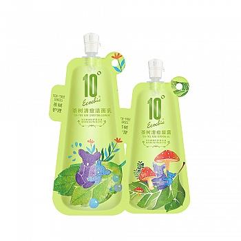 中国•10度茶树清痘净肤套装(洁面乳100g+凝露 40g)