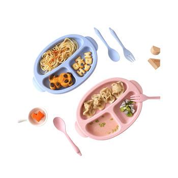 Ymer小麦秸秆儿童餐盘餐具3件套