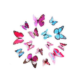 态美 立体3D蝴蝶装饰12只套装
