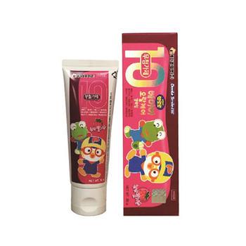 韩国 啵乐乐进口可吞咽牙膏草莓