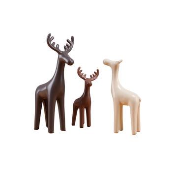 寓义 温馨萌趣摆件三色鹿