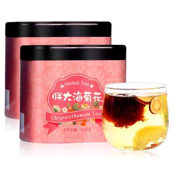 四月茶侬 胖大海菊花茶80g×2罐