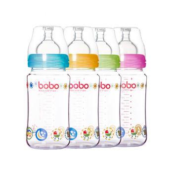 BOBO乐儿宝新生优晶瓶玻璃奶瓶240ml