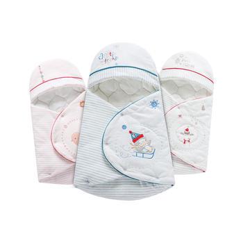 澳斯贝贝婴儿加厚卡通棉抱被