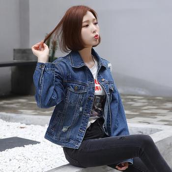 牛仔外套CW1801女韩版学生水