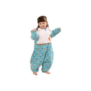 龙之涵贡缎活套婴儿秋冬分腿睡袋