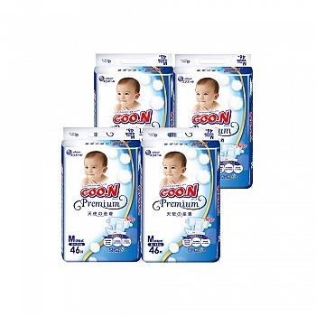 GOO.N®大王 环贴式纸尿裤 天使系列M46片*4包