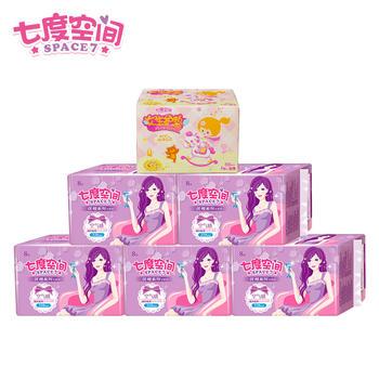 七度空间卫生巾优雅系夜用6包58片