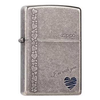 之寶(zippo)古銀藍心 和你一起