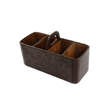 多样屋 压纹手挽遥控器盒/咖啡