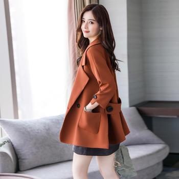 紫衫衣阁气质宽松纯色短款外套