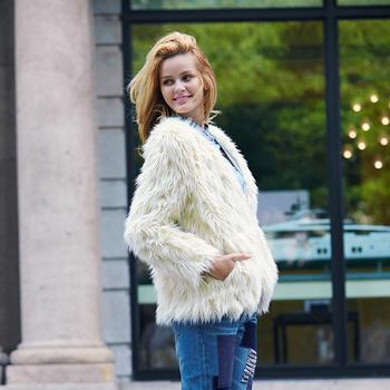 显瘦保暖羊羔绒外套HJF-D6003