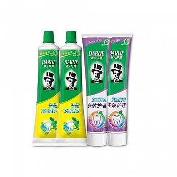 黑人牙膏双重薄荷120g*2+黑人牙膏双重薄荷多效护理120g*2