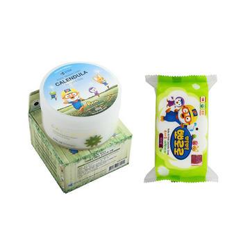 韩国 啵乐乐进口金盏花面霜香皂