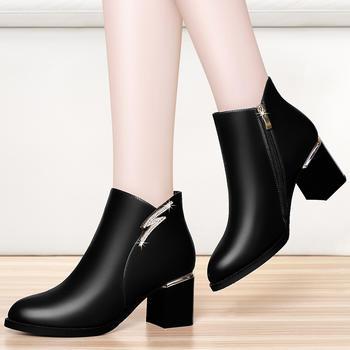 冬季马丁靴女英伦风粗跟百搭单靴