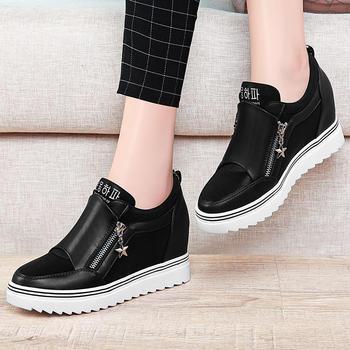 白鞋女韩版百搭运动鞋内增高单鞋