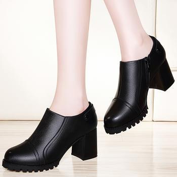 高跟鞋女冬?#25351;?#33521;伦风女鞋子皮鞋