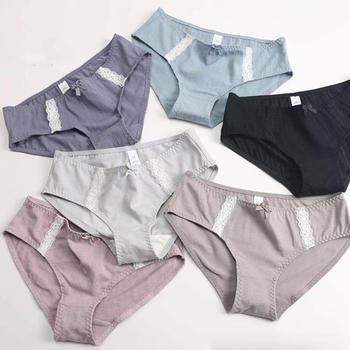 LWQGL【3条装】舒适纯棉蕾丝内裤女