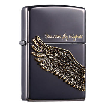 Zippo古银黑冰天使之翼飞的更高