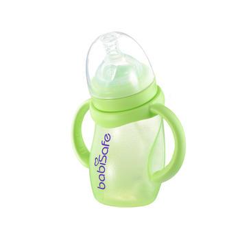 安儿欣 淘气宽口径玻璃吸管奶瓶