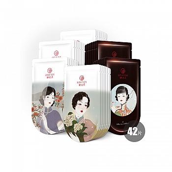 御泥坊清透盈润面膜套装42片(清爽+玫瑰+竹萃)