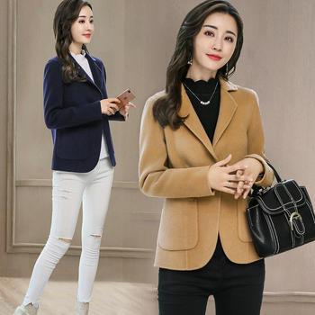 紫衫衣阁短款纯色修身短外套