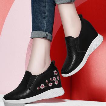 内增高女鞋厚底松糕鞋小白鞋