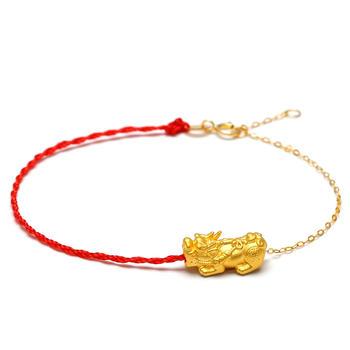 阿梵尼 黄金貔貅半红绳细手链