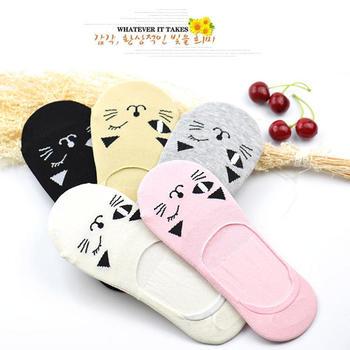 派来丝 小猫卡通棉袜5双礼盒装