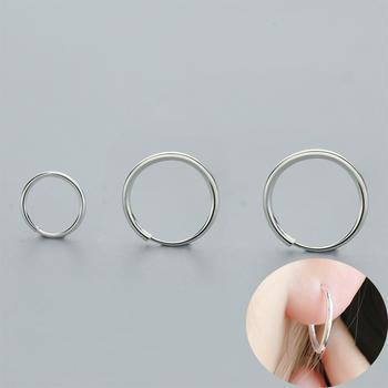 S990银小巧光面百搭耳圈 3尺寸可选