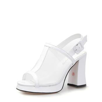 艾米奇网纱?#25351;?#38450;水台高跟凉鞋