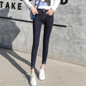 可奈丽莎小脚铅笔裤女弹力牛仔裤