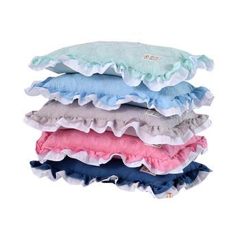 明瑟mingse水洗棉夹棉花边荞麦枕一只装/一对装