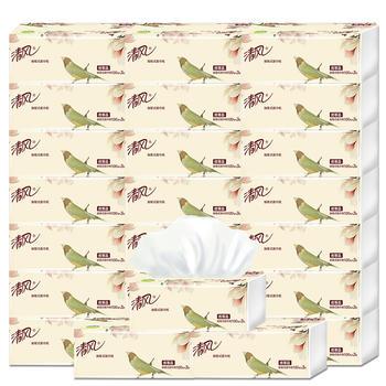 清風柔韌原木系列3層24包軟包抽紙