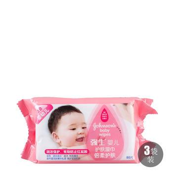 强生婴儿 倍柔护肤湿巾80*3