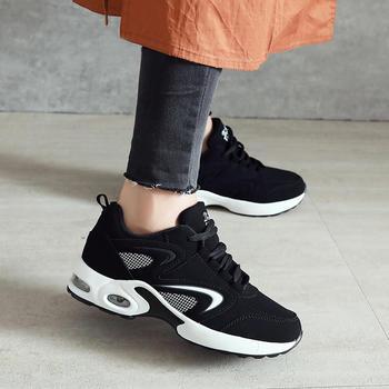跨洋 时尚气垫底运动女鞋 黑白