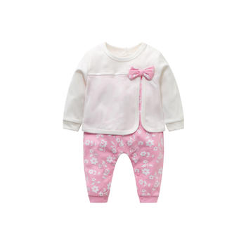 Cipango 新款可爱宝宝假两件连体哈衣 纯棉婴幼儿爬服