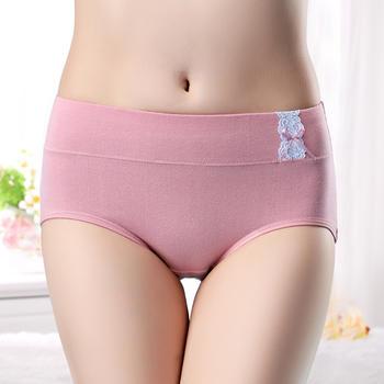 啵啵纯大码纯棉中腰女内裤2条装