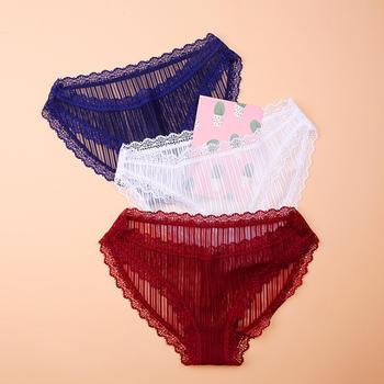 LWQGL性感蕾丝透气透明女士内裤