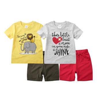 minizone儿童卡通短袖T恤裤子两件套