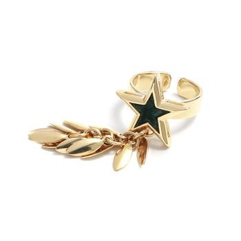Crocus个性网红ins时尚麦穗流苏五角星星设计戒指3552