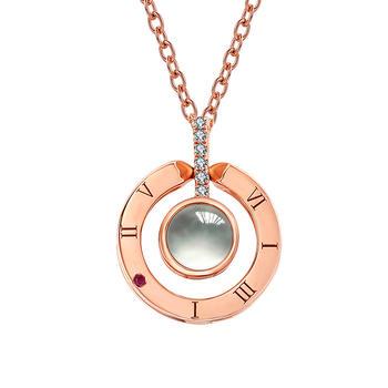 今上珠宝 18K金钻石彩金项链抖音百种语言套链