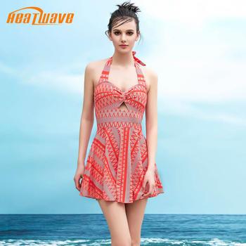 热浪性感时尚女高腰连体游泳衣